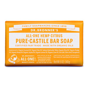All-One Hemp Pure-Castile Bar Soap - Citrus