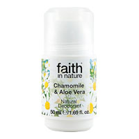 Faith In Nature - Roll-On Crystal Deodorant - Chamomile & Aloe Vera