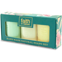 Faith In Nature Hand Made Natural Soaps Set