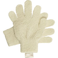 Hydrea London - Natural Cotton Exfoliating Gloves