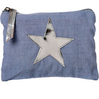 Shruti - Cotton Purse - Blue