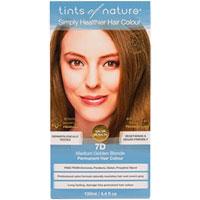 Tints of Nature - Permanent Colour - 7D Medium Golden Blonde